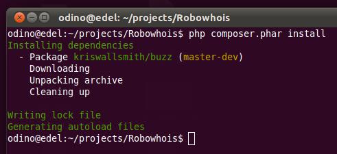 install composer dependencies